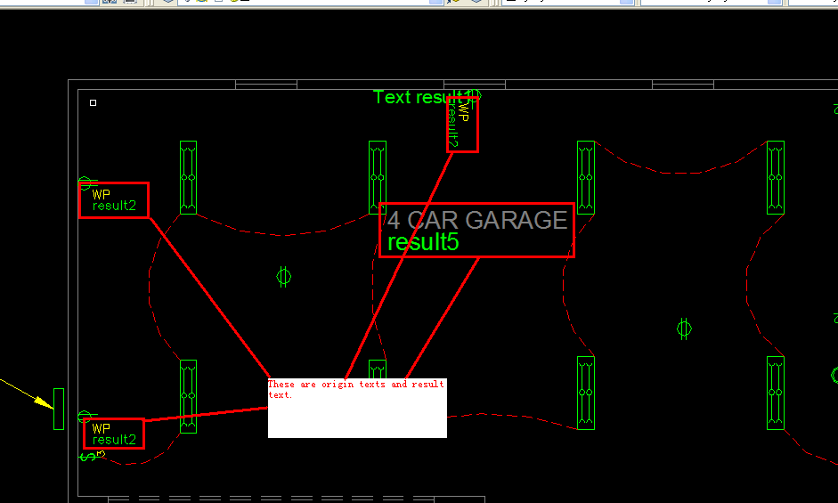 the result cad file